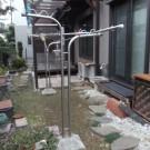 before : 壊れた縁側と立水栓