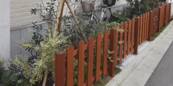 門袖側からの柵