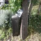 before:既存門柱。傷みがあり、表札も取れてしまっています。