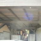 車庫からの見上げ