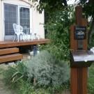 ウッドデッキと門柱