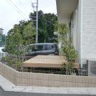before:道路側からの庭。丸見えです。