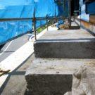 before:道路側建物施行中