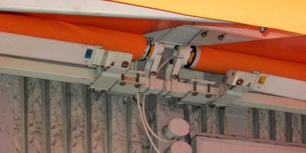 オーニングの2台接続部分