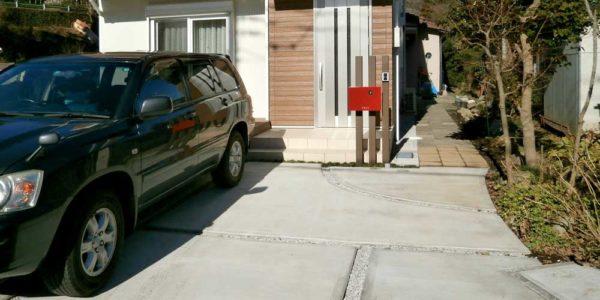駐車場前から見る
