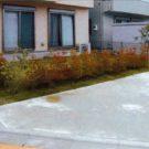 before:敷地コーナー側から見た庭全景