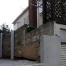 補強したブロック塀