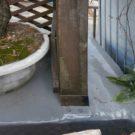 before:既存フェンスの柱脚