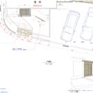 5回目工事図面(玄関横物置+フェンス)