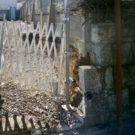 before:敷地前道路から敷地奥を見る