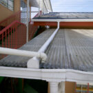 before:外階段の樋との接続部分