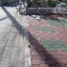 before:インターの敷かれた駐車場