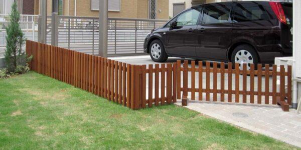庭との境界フェンス