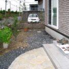 before:アプローチから見た庭
